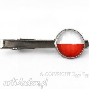 Polska - Spinka do krawata - ,polska,flaga,patriotyczna,spinka,krawata,