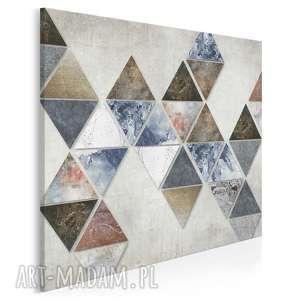 Obraz na płótnie - trójkąty loft w kwadracie 80x80 cm 57102 vaku