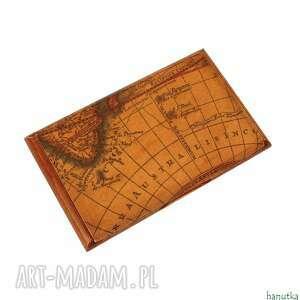 stara mapa - wizytownik, etui na karty płatnicze, prezent, męski, mężczyzna