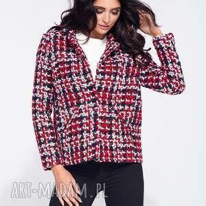 Bien fashion kolorowa elegancka krótka kurtka damska glamour