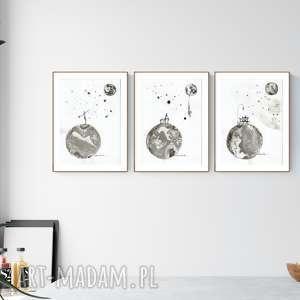 zestaw 3 grafik a4 wykonanych ręcznie, abstrakcja, elegancki minimalizm,, minimalizm