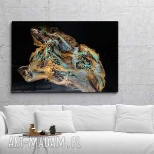 wyspa tonąca w złocie - obraz z fakturą 3d, ręcznie malowany 120x80