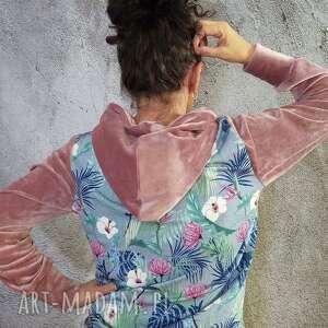 fabrykawis bluza z kapturem, weluru, dresowa bluza, kapturem