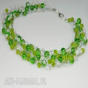 zielony naszyjnik-N33, naszyjnik, szkło, unikatowa-biżuteria, unikalny-naszyjnik