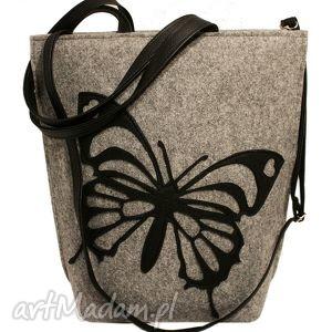 ręcznie wykonane na ramię shopper bag motyl