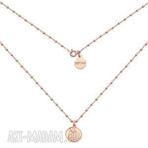 naszyjnik z różowego złota z medalikiem sotho, złoto