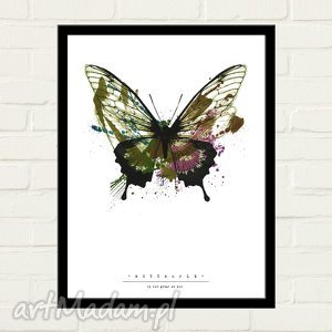 BUTTERFLY PAINTED Plakat 30x40, minimalizm