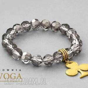 Crystal with pendant in black diamond. - ,trefl,zawieszka,kryształki,