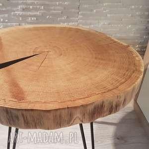 stoły stolik kawowy plaster drewna dąb, stół, drewno, loft