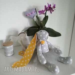 króliczek z imieniem dziecka, tilda, chrzciny lalki