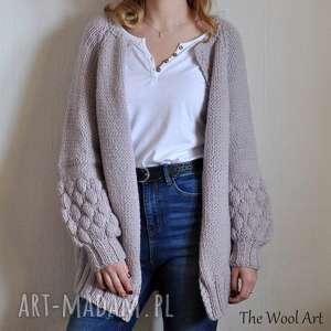 kardigan alpaka, sweter, wełniany, wełniany swetere, sweter na drutach