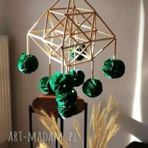 dekoracja pająk, folk, ludowy, pompon