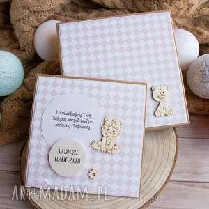 wyjątkowa kartka w pudełeczku z okazji roczku, urodzin dla maleństwa