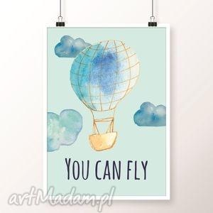 Obrazek you can fly pokoik dziecka well balon, balony, plakat,
