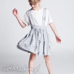 spódnice spódniczka ds09m, spódniczka, sportowa, szelki, wiązanie, dres, ptaki