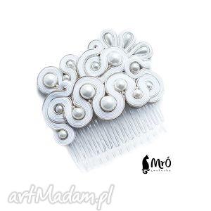 vivienne- grzebyk do włosów soutache, sutasz, grzebyk, ślubny, ślubna