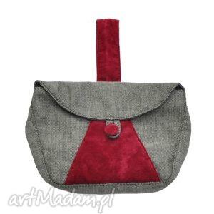 ręcznie robione do ręki 04-0004 szara torebka kopertówka elegancka do ręki cuckoo