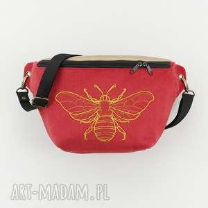 nerka xxl pszczołka - ,nerka,haft,pszczoła,romantyczna,saszetka,torebka,