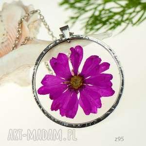 Prezent Naszyjnik z prawdziwym kwiatem z95, naszyjnik-z-kwiatów, herbarium-jewelry