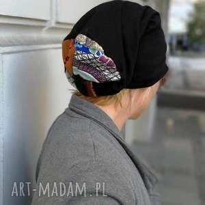 czapka damska orientalna długa etno boho, czapka, etno, kolorowa, patchwork