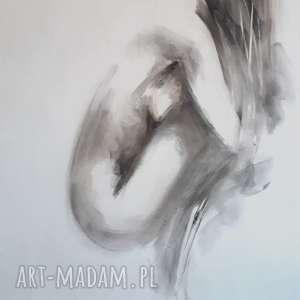 nude 100x70, obraz-kobieta, obraz-akt, duży-obraz-akt, czarno-biały-obraz