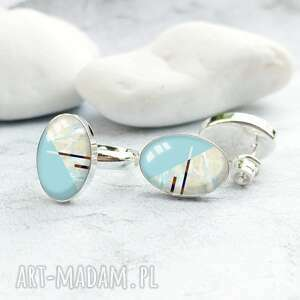 komplet biżuterii ze srebra pierścionek i kolczyki wkrętki
