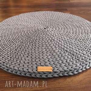 podkładka okrągła ze sznurka bawełnianego, podkładka, recznierobione, nadrutach