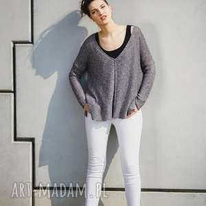 swetry sweter luźny, z dużym dekoltem, damski, luźny sweter, oversize