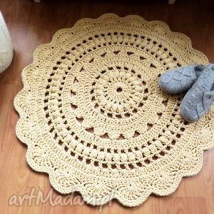 dywan ręcznie wykonany 90 cm, dywan, dywanik, chodnik, chodniczek, dywany