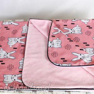 Kocyk Minky 75x100 Królik Róż, kocyk, minky, dziecko, niemowlę, kołderka, królik