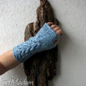 w kolorze blue,,, - rekawiczki, mitenki, niebieskie, design, moda, styl