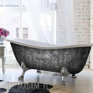 dom glam silverra - artystyczna ekskluzywna wanna ze strukturą
