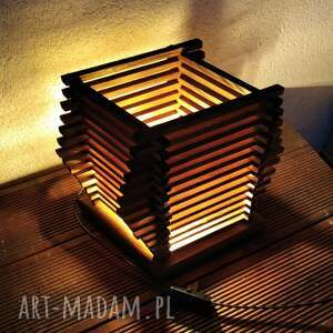 lampa drewniana, lampka z drewna /3/, lampa, lampka, drewniana