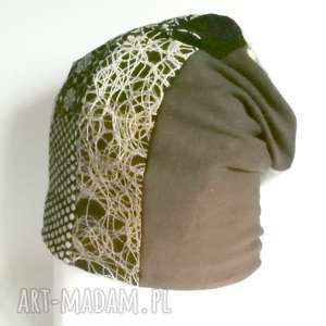 czapka patchworkowa ciepła zimowa - czapka, etno, tkanina, wzory, norweska, zima