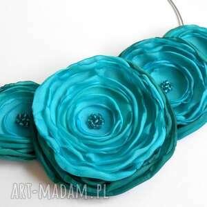 hand-made święta prezenty kwiatowa kolia