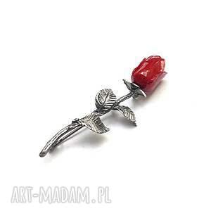 handmade broszki róża - broszka