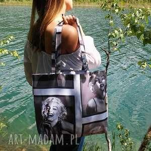 nieprzemakalna torba na wakacje z marilyn monroe, torebka