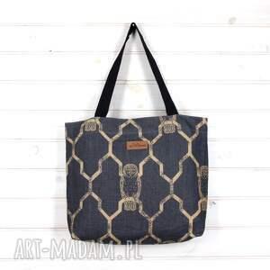 Amelia pojemna shopperka torba mocna Sowa, torebka, pojemna, mocna, wytrzymała, sowa