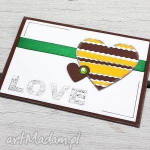 Kartka z serduszkami, kartka, serca, życzenia, walentynki, miłość