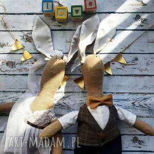 Para młoda prezent na ślub maskotki peppofactory prezent, ślub