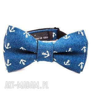 mucha jeans-anchor, mucha, krawat, urodziny, prezent, tata, on