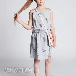 Sukienka DSU09M, sukienka, ptaki, sportowa, stylowa, modna, dodokids