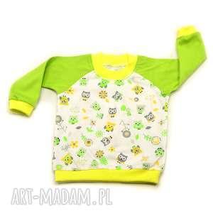 sowy bawełniana bluzka raglanowa dla dziewczynki, rozmiary 68-122
