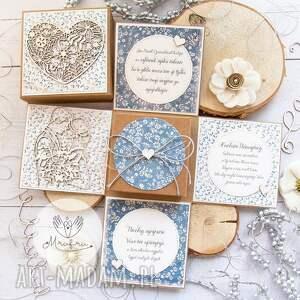 eksplodujące pudełko ślubne piękna, personalizowana pamiątka w dniu ślubu
