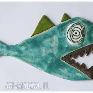 zielona pirania, ceramika, ryba, pirania dom