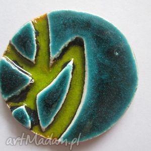 turkusowa - ceramiczna, kolorowa, etniczna