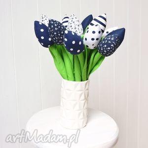 świąteczny prezent, bawełniane tulipany, tulipan, bukiet, bawełniany, szyte