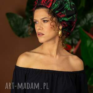 czepek ochronny - czapka turban królowa róża, beret, czepek, turban