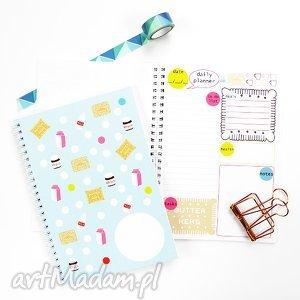Planer dzienny, Notes z planem dnia, spiralowany A5, 50 kartek, notes, planer