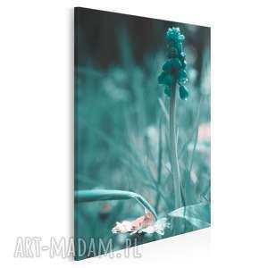 obraz na płótnie - łąka turkus 50x70 cm 08501, łąka, kwiat, miętowy, mięta